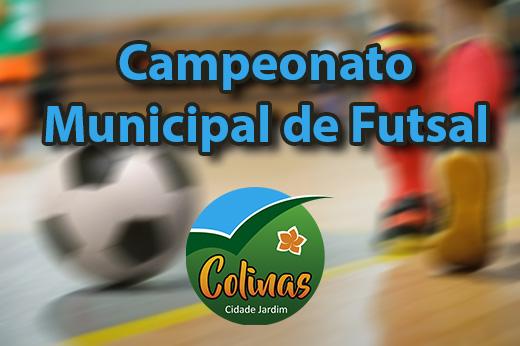 Campeonato Municipal de Futsal inicia dia 19